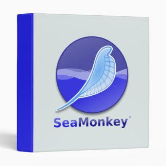 SeaMonkey Text Logo 3 Ring Binder