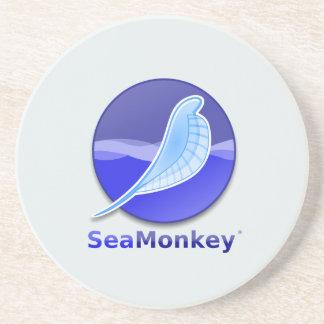 SeaMonkey Text Logo Beverage Coasters