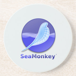 SeaMonkey Text Logo Drink Coaster