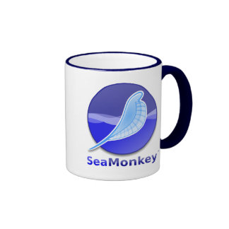 SeaMonkey Text Logo Ringer Coffee Mug