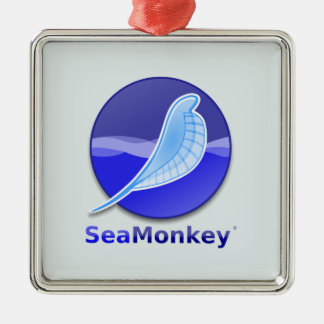 SeaMonkey Text Logo Christmas Ornament