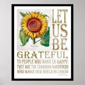 Seamos Agradecido-Girasol envejecido - el poster 2