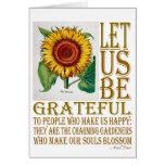 Seamos Agradecido-Girasol - espacio en blanco de l Felicitaciones