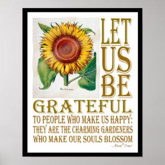 Seamos Agradecido-Girasol - poster 1B