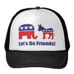 ¡Seamos amigos! Gorros