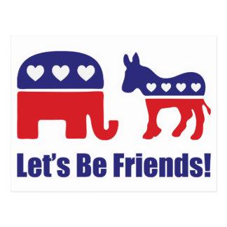 ¡Seamos amigos! Postal