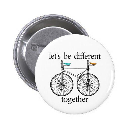 Seamos diferentes juntos pin redondo de 2 pulgadas