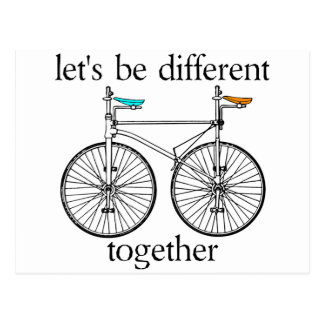 Seamos diferentes juntos tarjeta postal