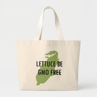 Seamos lechuga sea tote libre de GMO Bolsa Tela Grande