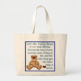 Seamos osos de peluche bolsa de mano