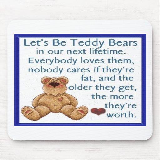 Seamos osos de peluche alfombrillas de ratones
