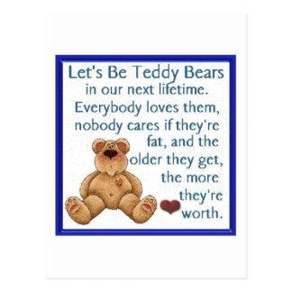 Seamos osos de peluche tarjetas postales