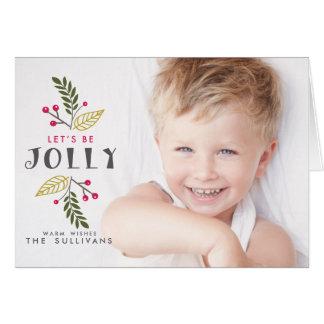 Seamos tarjeta doblada foto alegre del navidad de
