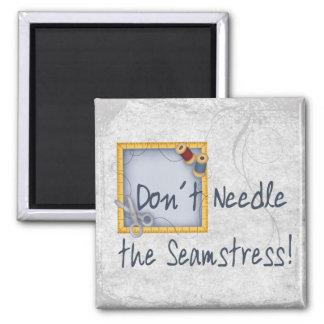 Seamstress 2 Inch Square Magnet
