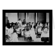 Seamstress African American 1900 Card