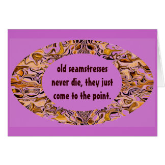 seamstress humor card
