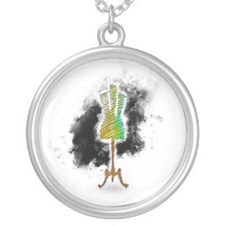 Seamstress mannequin/Dressmaker Mannequin Silver Plated Necklace