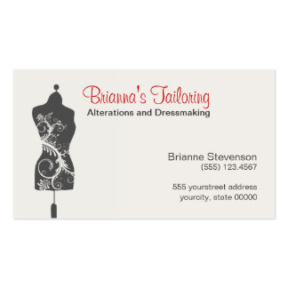 Seamstress Mannequin Mannequin Double-Sided Standard Business Cards (Pack Of 100)