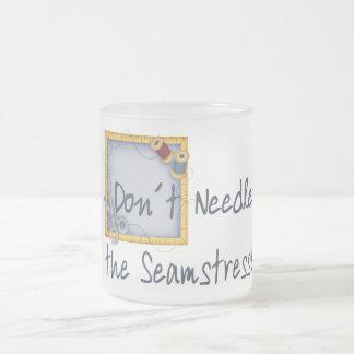 Seamstress 10 Oz Frosted Glass Coffee Mug