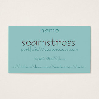 seamstress, -n.///clothier///dressmaker///needl... business card