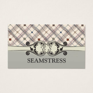 Seamstress Sewing Studio Decorated Button Card