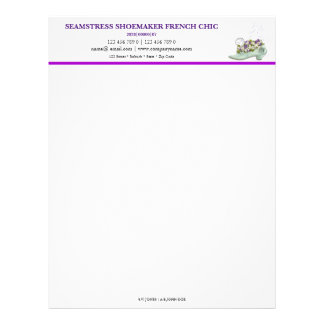 Seamstress shoemaker French chic PERSONALIZE Letterhead