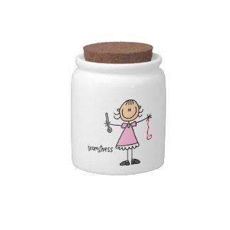 Seamstress Stick Figure Candy Jar