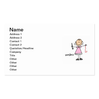Seamstress Stick Figure Double-Sided Standard Business Cards (Pack Of 100)