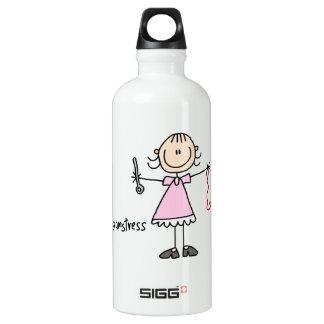 Seamstress Stick Figure Water Bottle