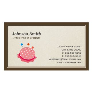 Seamstress Tailor - Cut Sewing Thread Kit Business Cards
