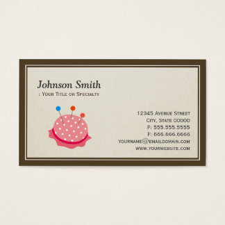 Seamstress Tailor - Cut Sewing Thread Kit Business Card