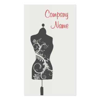 Seamstress Tailoring Mannequin Business Card