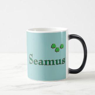 Seamus Irish Name 11 Oz Magic Heat Color-Changing Coffee Mug