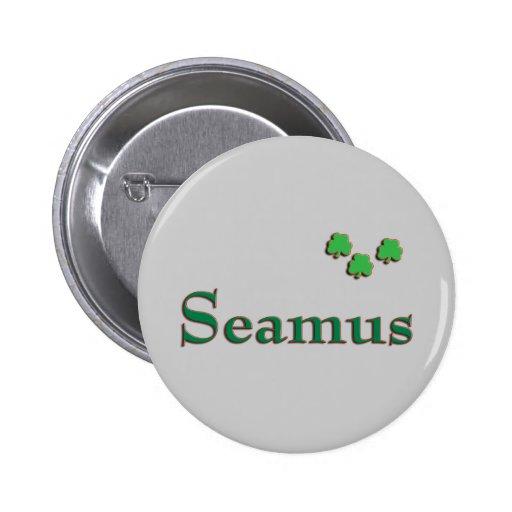 Seamus Irish Name Buttons