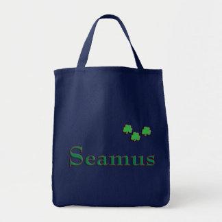 Seamus Irish Name Grocery Tote Bag