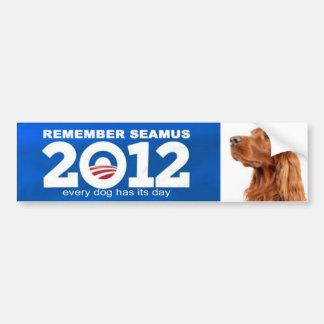 seamus romney obama bumper sticker car bumper sticker
