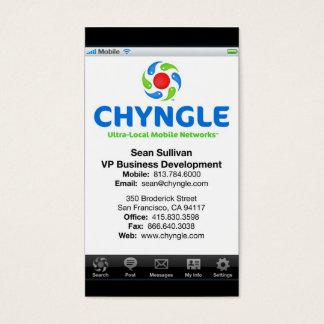 Sean Chyngle Business Cards