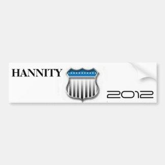 Sean Hannity 2012 Car Bumper Sticker