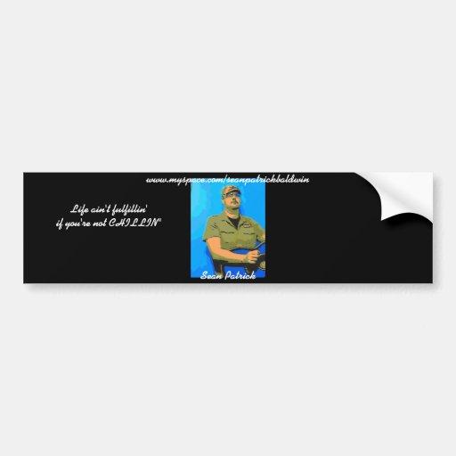sean patrick's bumper sticker car bumper sticker
