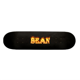 Sean skateboard fire and flames design.