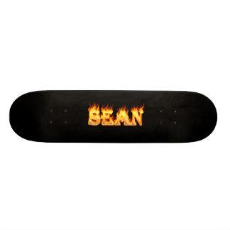 Sean skateboard fire and flames design.
