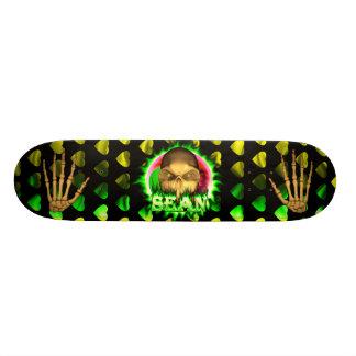 Sean skull green fire Skatersollie skateboard