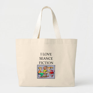seance mediem joke canvas bags