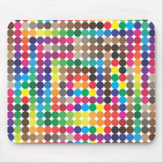 seanless colored circles mouse pad