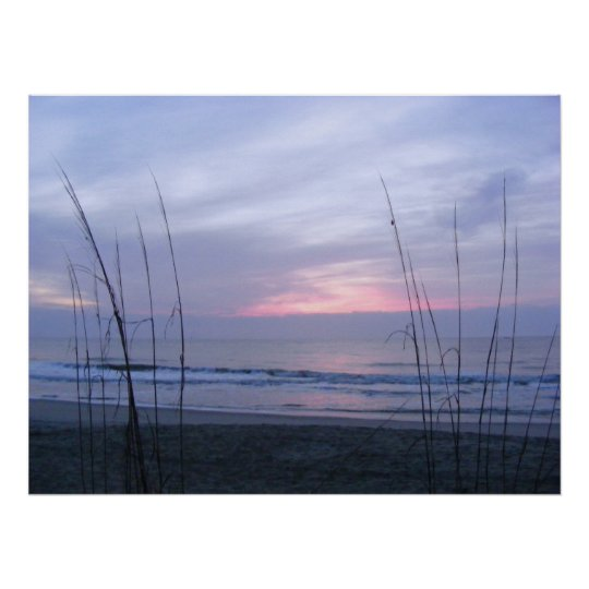 Seaoats and Sunrise Poster