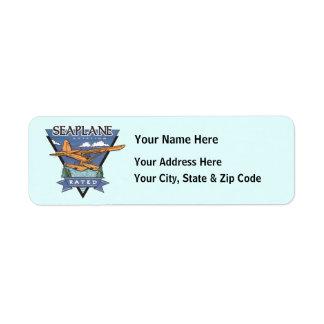 Seaplane Aviation Rated Return Address Label