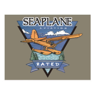 Seaplane Aviation Rated Postcard