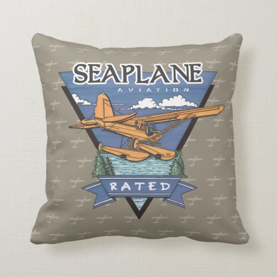 Seaplane Aviation Rated Throw Pillow
