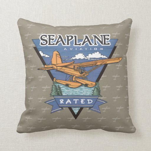 Seaplane Aviation Rated Throw Pillows