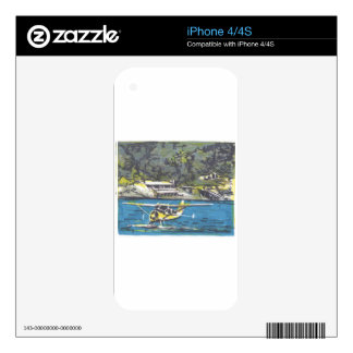 Seaplane to San Juan Is. Skin For iPhone 4